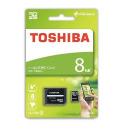 Toshiba microSDHC 8GB class 4   High Speed M102 adapter atmiņas karte