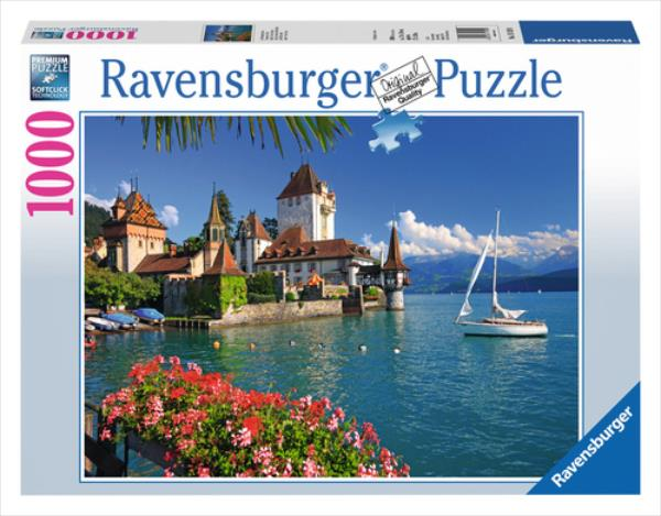 RAVENSBURGER 1000 EL. Jezioro Thun, Bern puzle, puzzle