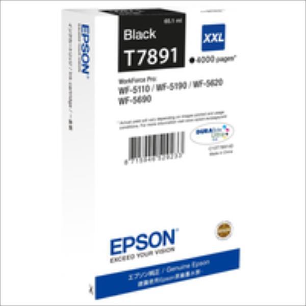 Epson Black T7891 | 65 ml | WF-5110DW/WF-5190DW/WF-5620DWF/WF-5690DWF kārtridžs