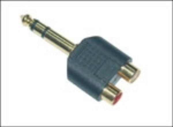 MicroConnect AUDANH Adapter 6.3mm - 2XRCA M-F Stereo