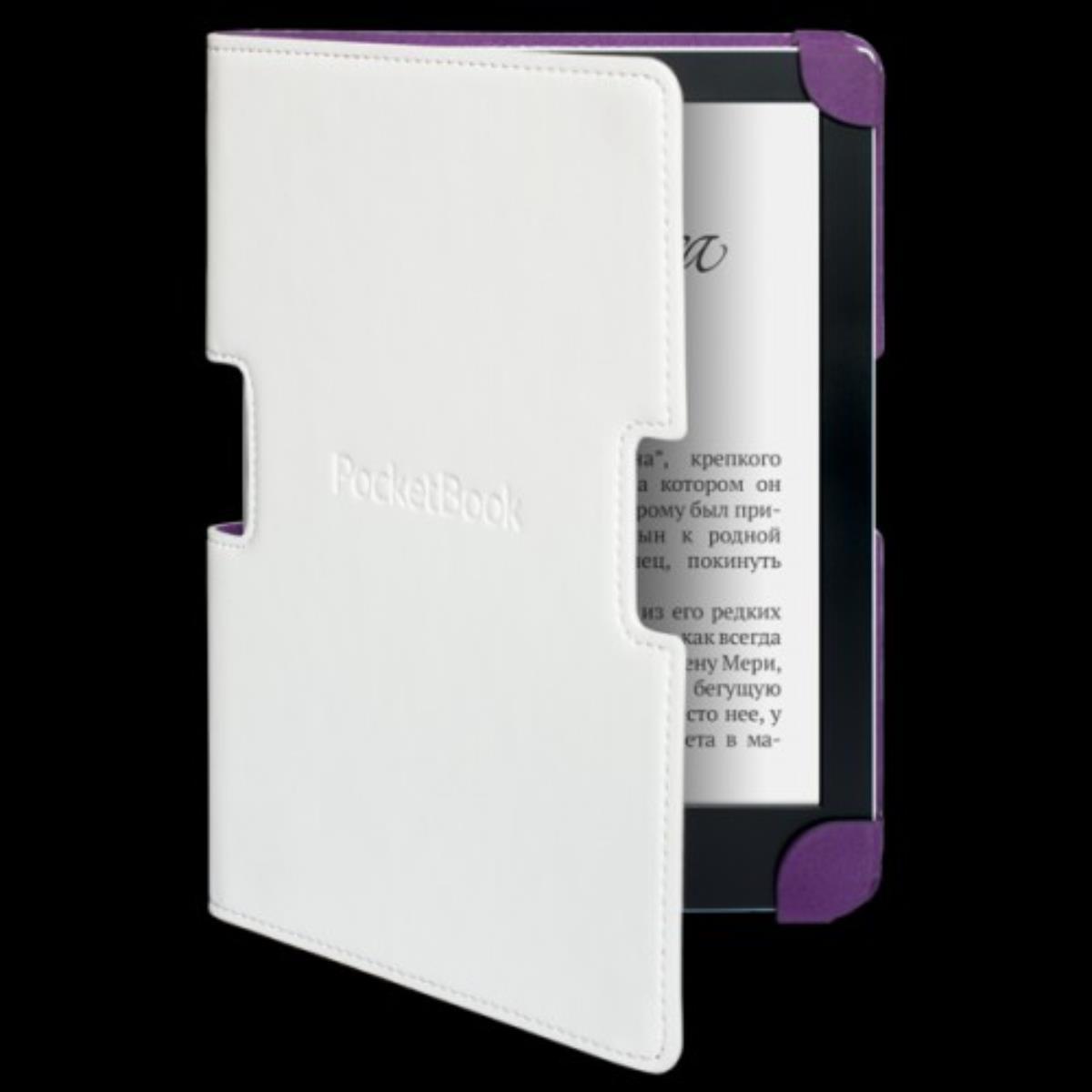 POCKETBOOK Cover 630 white/purple Planšetes aksesuāri