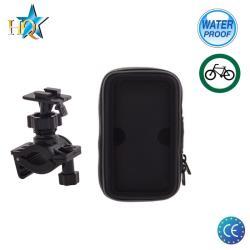 HQ B-02 Universal (13.5x7cm) Velo stūres telefona / navigācijas ūdensdrošs stiprinājums ar maciņu aksesuārs mobilajiem telefoniem