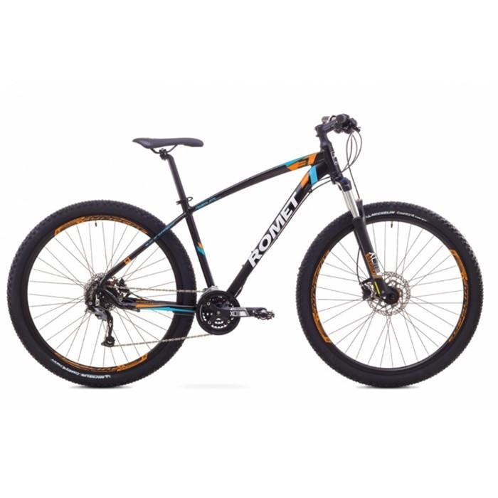 ROMET RAMBLER 29 3 MTB 18-L R29 MELNS/ORANŽŠ kalnu velosipēds 29