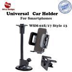 Ex Line WSM-02S/17 Style 13 (3.5-9.5 cm) Universāls auto turētājs ar loga/paneļa stiprinājumu Mobilo telefonu turētāji