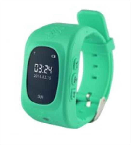 KIDS LOCATOR GPS -Tracking smartwatch, with alarm phone for safety of kids,green Viedais pulkstenis, smartwatch