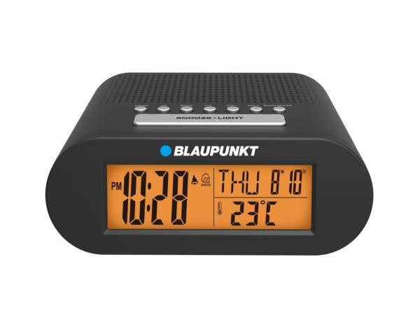 Blaupunkt CR3BK Clock Radio , FM PLL DATA/TEMP, black radio, radiopulksteņi