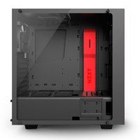 NZXT S340  Elite Side window, USB 3.0 x2, Mic x1, Spk x1, Black/Red, Midle-Tower Datora korpuss