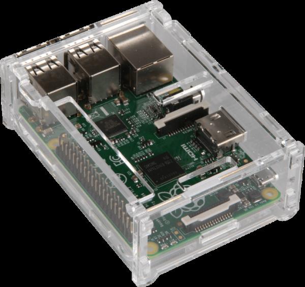 Raspberry B+ / Pi 2 / Pi 3 Case transparent Datora korpuss