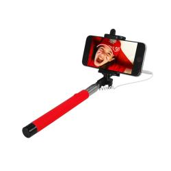 ART SELFIE STICK wired KS10A ART-OEM red Selfy Stick