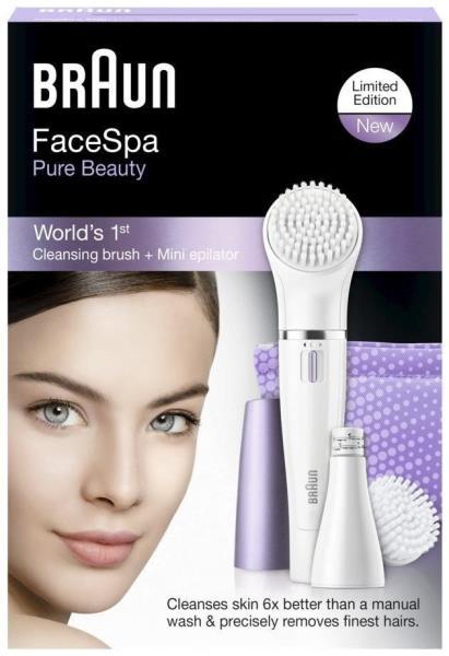 BRAUN SE832-N Facial Care Kit Normal Violet/White Epilators