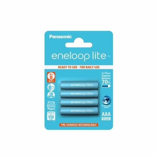 Panasonic Eneloop Lite R03/AAA 550mAh, 4 Pcs, Blister Baterija