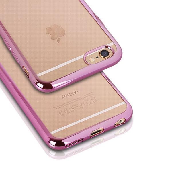 Telone Super Plāns Caurspīdīgs Silikona Aizmugures Apvalks Huawei Honor 5X ar Rozā krāsas rāmīti aksesuārs mobilajiem telefoniem