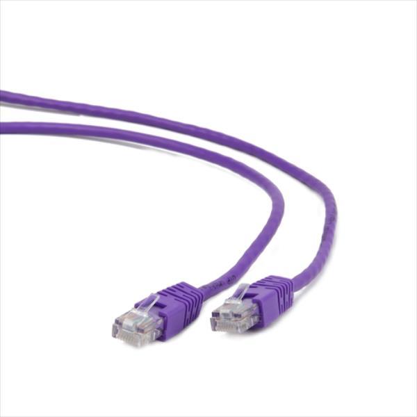Gembird patchcord RJ45, cat.5e, UTP, 0.25m, purple tīkla kabelis