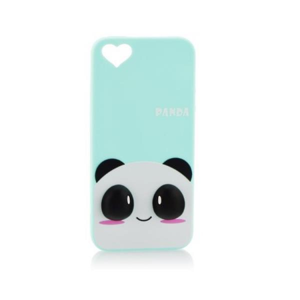 Forcell Silikona 3D telefona apvalks Apple iPhone 6 6S 4.7inch Zila Panda aksesuārs mobilajiem telefoniem