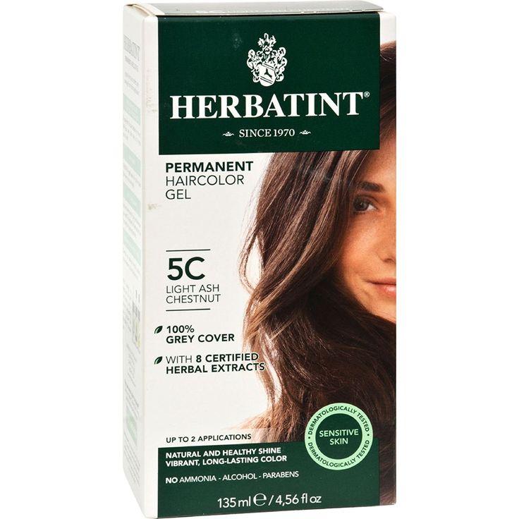 Herbatint Permanent Haircolor Gel 5C Light Ash Chestnut