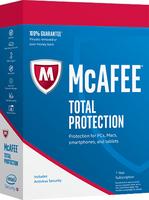 McAfee 2017 Total Protection 5 Device (Code in a Box) programmatūra