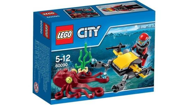 LEGO City Deep Sea Scuba Scooter 60090 LEGO konstruktors