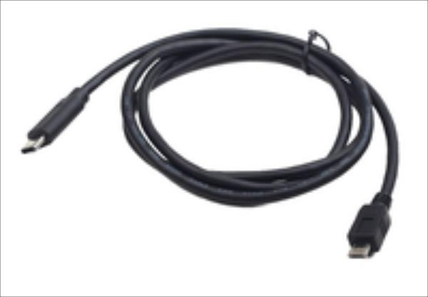 Gembird USB micro 2.0 BM cable to type-C (micro BM/CM), 1.8m, black kabelis