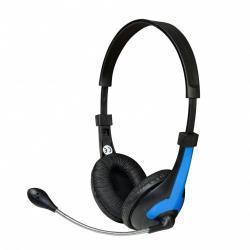 Vakoss MSONIC Stereo Headset with microphone, volume control MH538KB black-blue austiņas