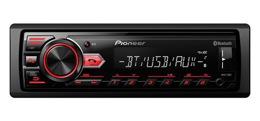 Pioneer MVH-29BT Bluetooth, RDS tuner, USB and Aux-In automagnetola