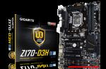 Gigabyte GA-Z170-D3H pamatplate, mātesplate