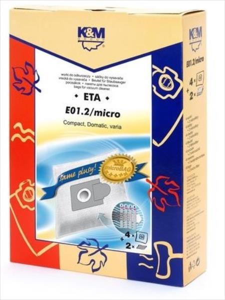 K&M-E01.2 EIO EIO Nr.9 putekļu maisi aksesuārs putekļsūcējam