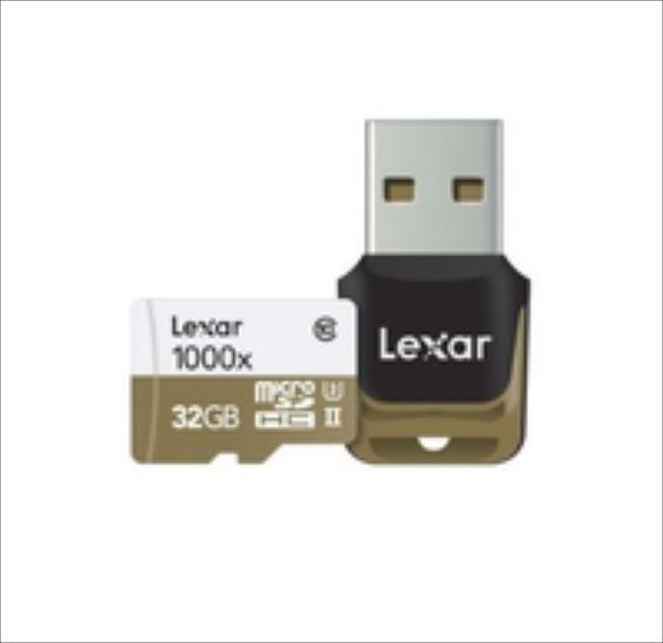 Lexar 32GB microSDHC UHS-II 1000x with USB Reader (Class 10) U3 atmiņas karte