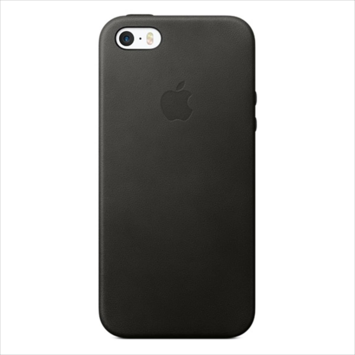 Apple IPHONE SE LEATHER CASE - BLACK - MMHH2ZM/A maciņš, apvalks mobilajam telefonam