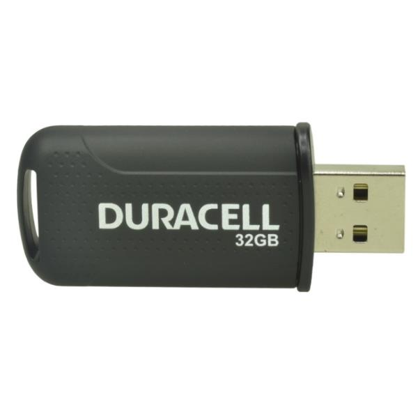 Duracell DRUSB32PE 32GB Augstas veiktspējas Ātrs USB 2.0 Flešatmiņas Disks Melns USB Flash atmiņa