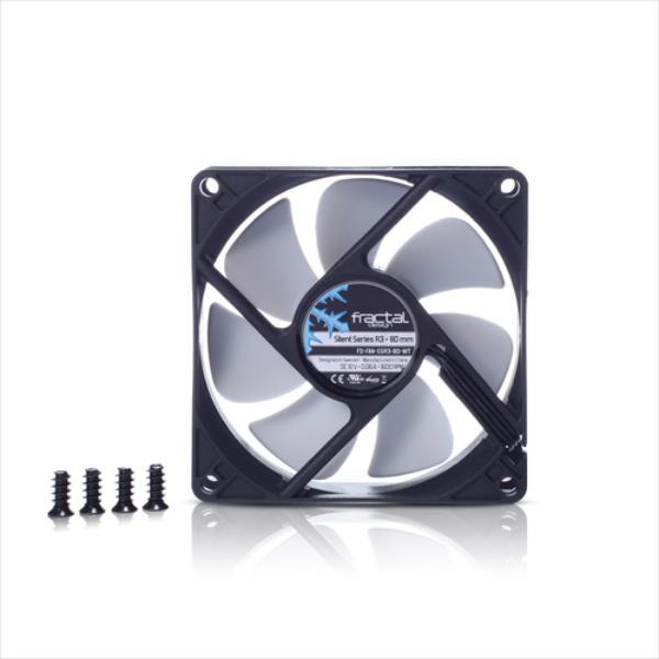 Fractal Design Silent Series R3 (FD-FAN-SSR3-80-WT) dzesētājs, ventilators