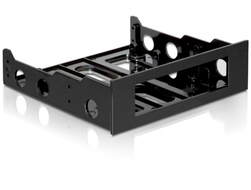 Delock plastic mounting frame for 3.5'' drive in 5.25'' bay black color piederumi cietajiem diskiem HDD