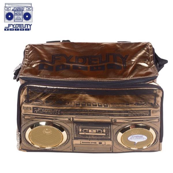 Fydelity Jambox Coolio Termo Soma ar pleca siksnu un Skaļruņiem (35х24х20cm) Melna portatīvo datoru soma, apvalks