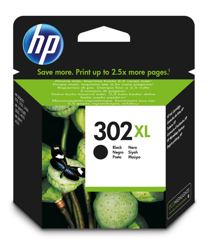 HP 302XL 8.5ml 480Seiten Schwarz (F6U68AE) kārtridžs