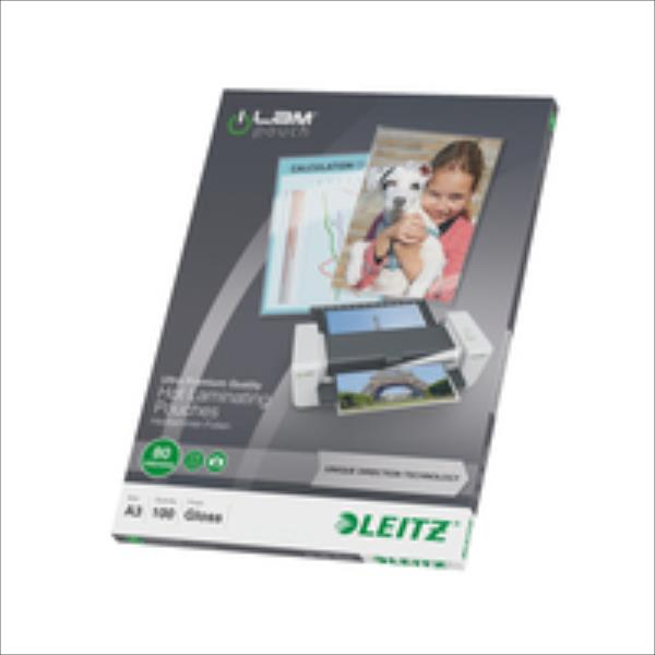Leitz  Lamination pouch A3 UDT 80 mic Leitz. Box of 100 pouches