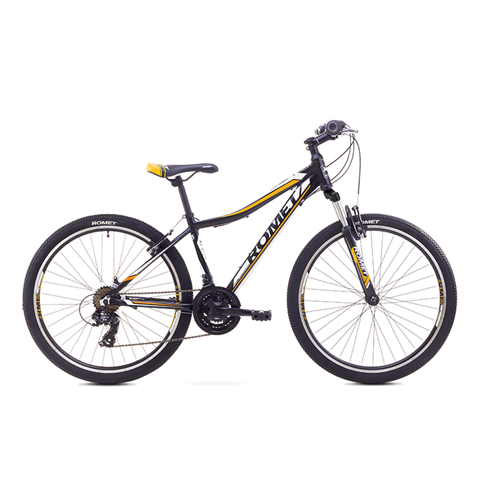ROMET RAMBLER 26 JR MTB 17-M R26 MELNS-ORANŽŠ kalnu velosipēds MTB