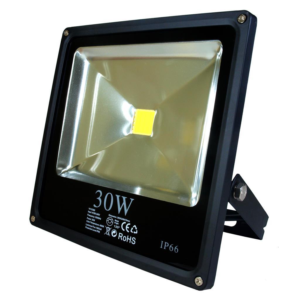 ART External lamp LED 30W, SLIM, IP66,AC80-265V,black, 3000K-warm white apgaismes ķermenis