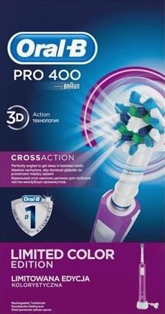 Oral-B Pro 400 Braun D16.513 CrossAction | purple mutes higiēnai
