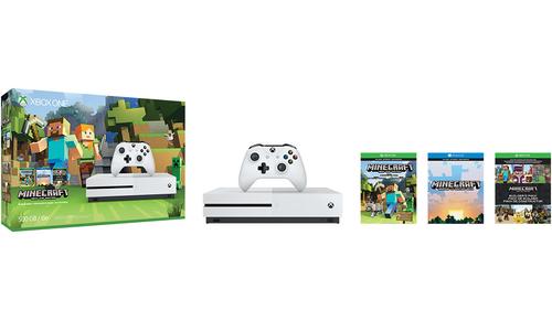 Microsoft Xbox One S 500GB white + Minecraft ZQ9-00046 spēļu konsole