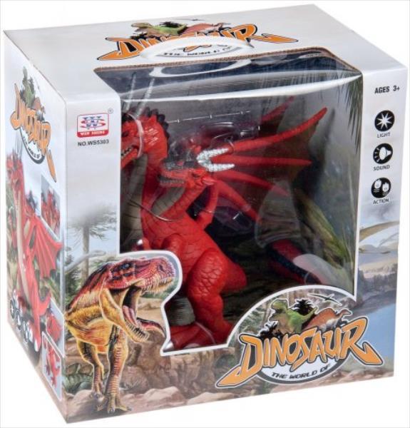 MEGA CREATIVE Dragon 3GLOWY WS5303 (trīs krāsas) bērnu rotaļlieta