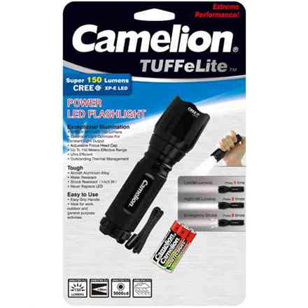 Camelion Torch T7012 CREE LED, 3 W, 150 lm, Waterproof, Shockproof kabatas lukturis