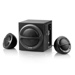 FENDA Multimedia - Speaker F&D A111 (2.1, 35W, 120Hz-20kHz, Subwoofer: 65Hz-120Hz, USB/SD card reader, Wooden, Black) datoru skaļruņi