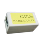 Gembird Cat. 5E LAN coupler, white color kabelis