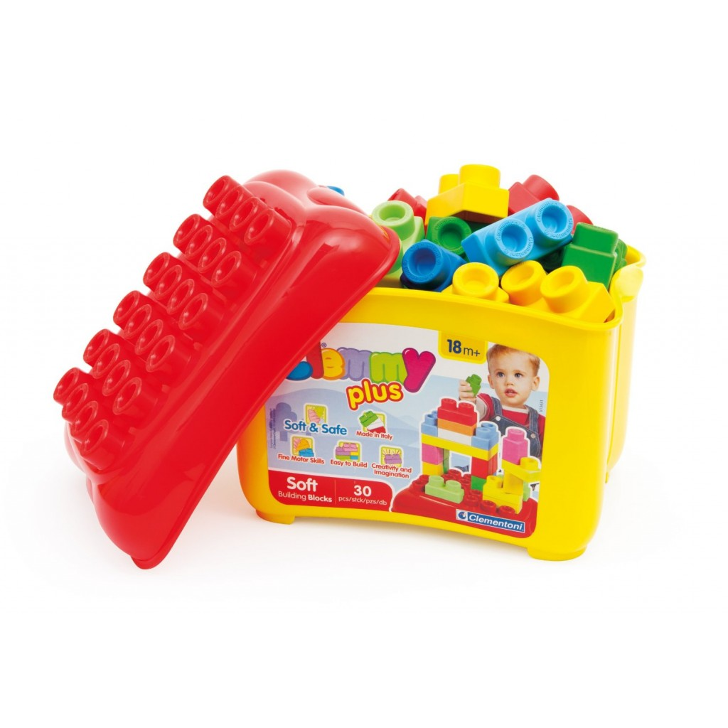 Blocks Clemmy Plus bucket 30 pcs C14882 konstruktors