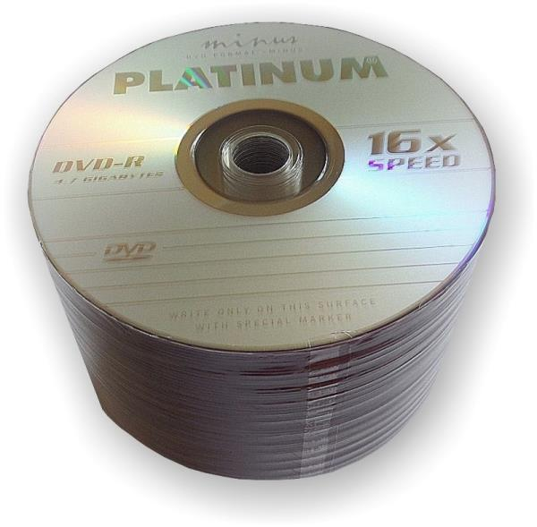PLATINUM DVD-R 4,7GB     16x SHRINK 50 PCS matricas