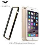 Fashion Super Plāns Metāla/Gumijots Sānu Apvalks iPhone 6 Plus 5.5 inch Melns/Zeltains (EU Blister)