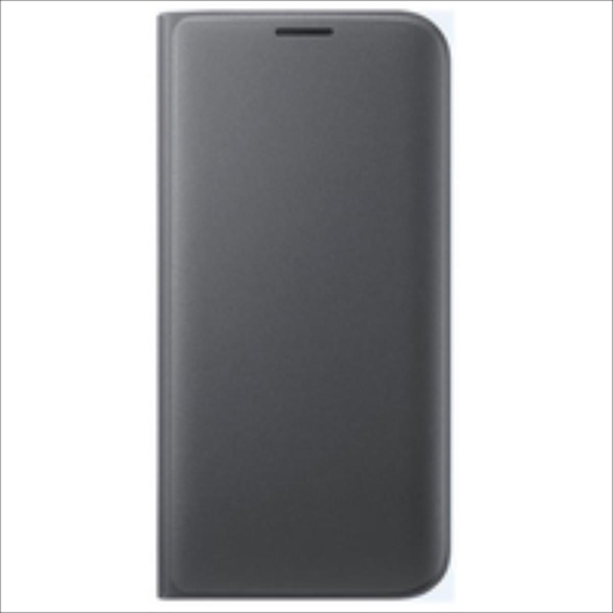 Samsung EF-WG935PBEGWW Īpaši plāns sāniski atverams maks G935F Galaxy S7 Edge Melns (EU Blister) maciņš, apvalks mobilajam telefonam