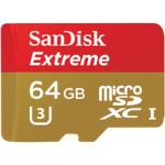 SanDisk Extreme memory card microSDXC 64GB 90MB/s, UHS-I, mobile, +Adapter atmiņas karte