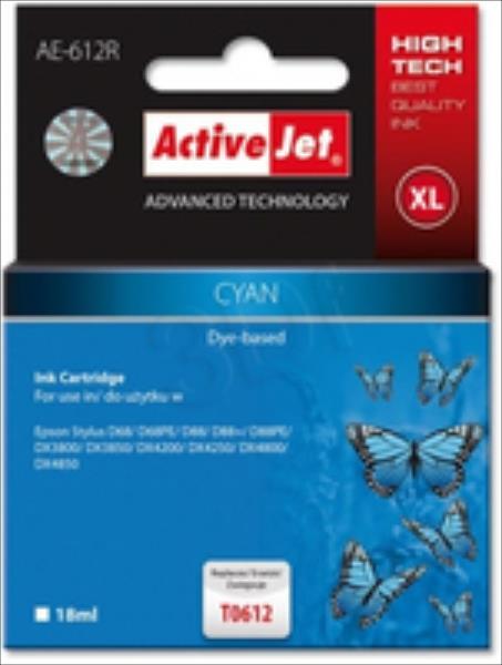 ActiveJet AE-612R | Cyan | 18 ml | Epson T0612 kārtridžs