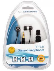ESPERANZA Stereo Earphone EH128 Black - Silver austiņas