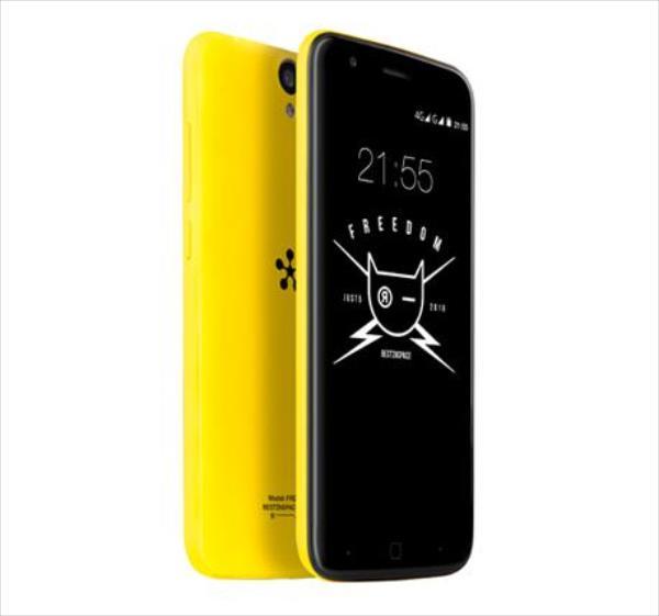 JUST5 Freedom Dual yellow Mobilais Telefons